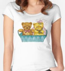 A Beary Nice Wedding Women's Fitted Scoop T-Shirt