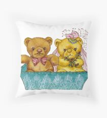 A Beary Nice Wedding Throw Pillow