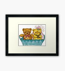 A Beary Nice Wedding Framed Print
