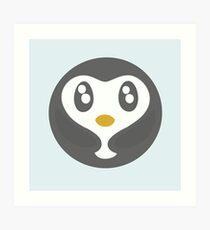 Cute Baby Penguin Ball Art Print