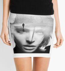 Black & White beautiful woman Mini Skirt