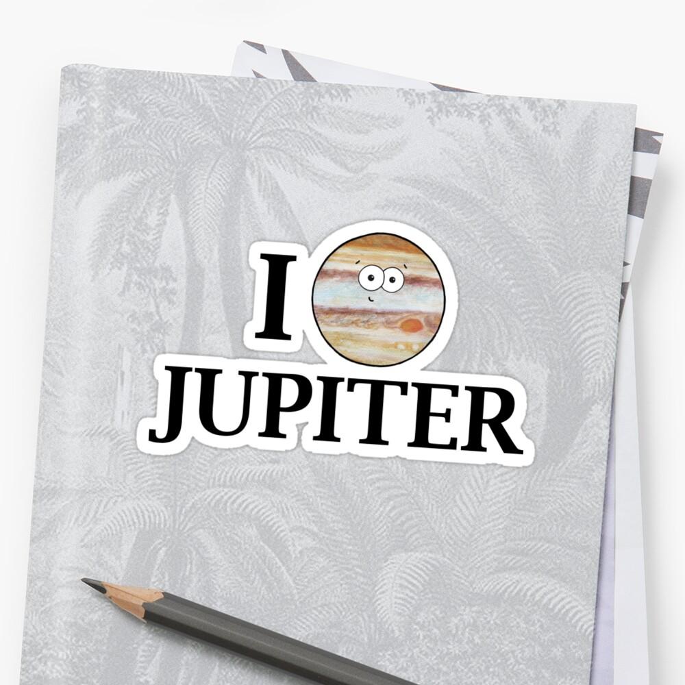I Heart Jupiter Sticker