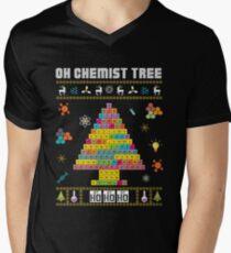 Oh Chemist Tree Merry Christmas Ugly Sweater Chemistry Tee Men's V-Neck T-Shirt