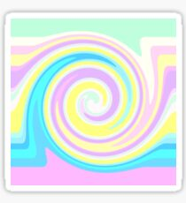 Bright abstract spiral Sticker