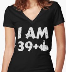 I'm 39 Plus Women's Fitted V-Neck T-Shirt