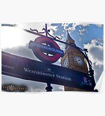 "London, England: ""Westminster Underground"" Poster"