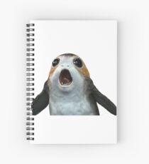 PORG from star wars the last jedi Spiral Notebook