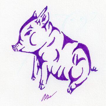 Tribal Piggie by ommadon