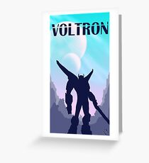 Voltron Poster Greeting Card
