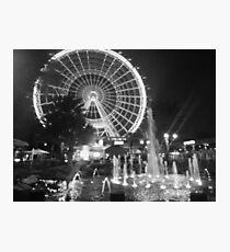 Black & White Eye and Fountain Photographic Print