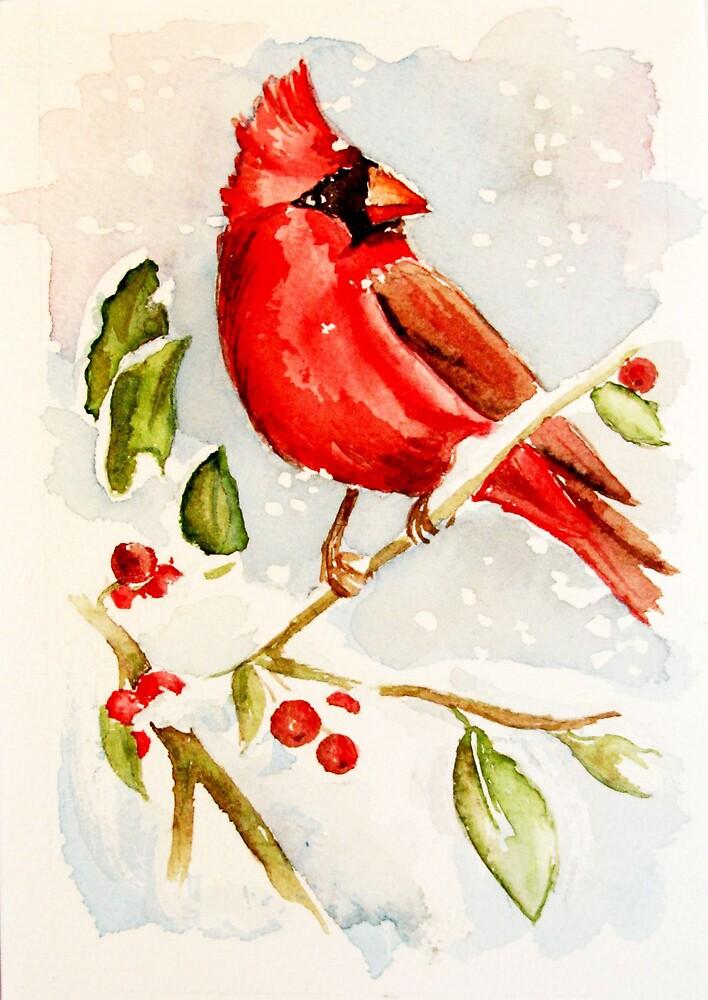 Christmas Cardinal by LuAnnDunkinson
