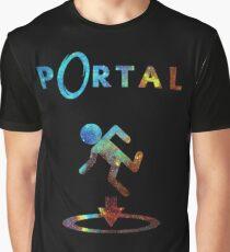 Portal Minimalist Nebula Design Graphic T-Shirt