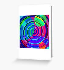 Re-Created Spiral Painting VI by Robert S. Lee Greeting Card