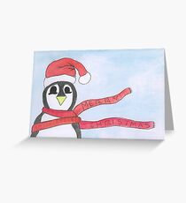 Penguin Christmas Greeting Card