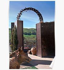 Garden Gateway at Viansa Winery, Sonoma Valley Poster
