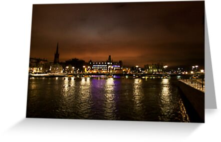 Stockholm at Night (Sweden) by Antanas