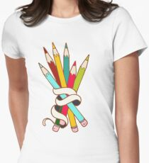 Colored Pencils Bouquet Women's Fitted T-Shirt