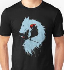 Blue Princess Silhouette Unisex T-Shirt