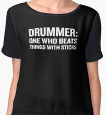 Drummer Definition Funny Drummer Meaning Quote  Chiffon Top