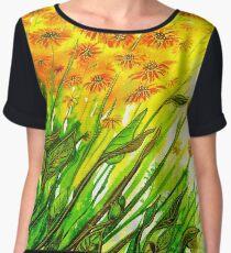 Sizzling Sunflowers  Chiffon Top