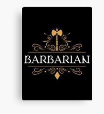 Barbarian Barbarians DPS Dungeons and Dragons Inspired D&D DnD Canvas Print