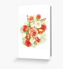 Buttercups and Roses Watercolor Greeting Card