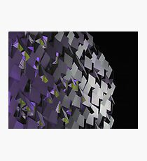 The Cheese Grater, Sheffield ( Purple ) Photographic Print