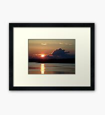 Early Summer Sunset Framed Print
