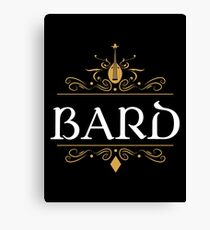 DnD Bard Bards Dungeons and Dragons Inspired D&D Canvas Print