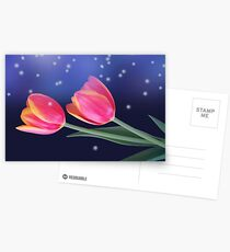 Tulips And Stars Postcards