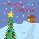 Merry Christmas Card, Mug, Print,T-Shirt, iPhone Case, Samsung Galaxy Case, Poster, Throw Pillow, Tote Bag, Duvet Cover, Mug, Photographic Print, Art Print, Greeting Card,  by Kgphotographics