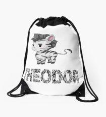 Zebra Theodor Drawstring Bag