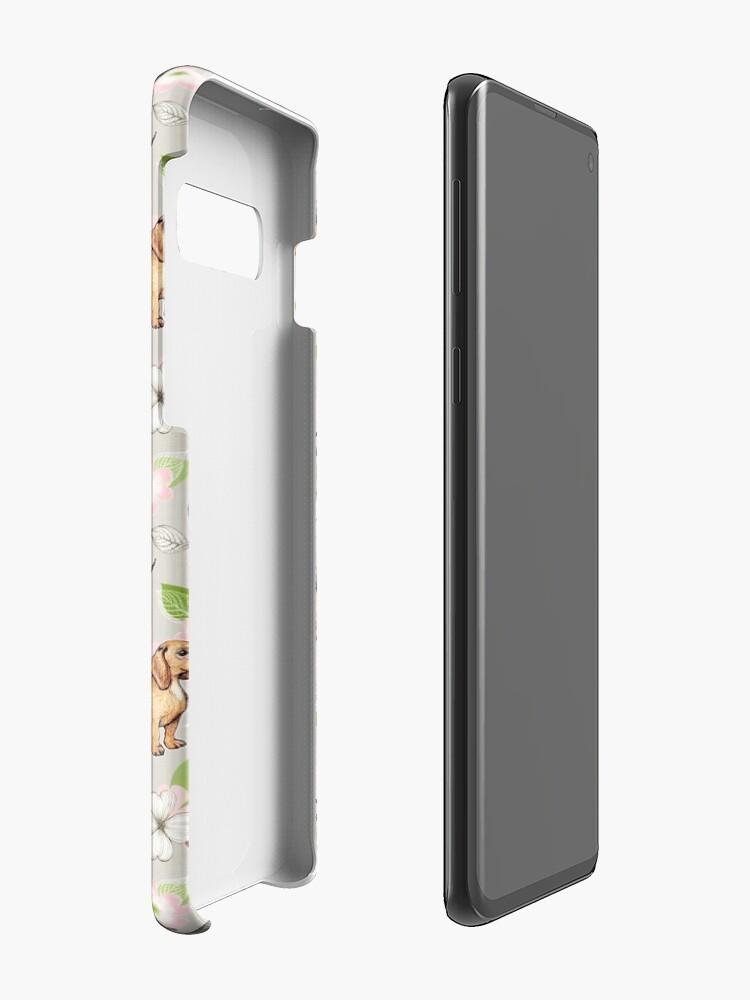 Alternative Ansicht von Dackel und Hartriegelblüten Hüllen & Klebefolien für Samsung Galaxy