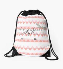 Gilmore Girls- Where you lead I will follow Drawstring Bag