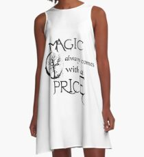 Once upon a time-quote A-Line Dress