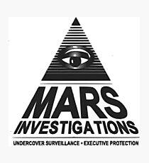 Mars investigation Photographic Print