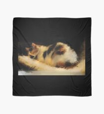 Beautiful Dreamer- Calico cat napping Scarf