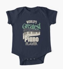 World's Greatest Piano Player Music Keys Gifts For Pianist One Piece - Short Sleeve