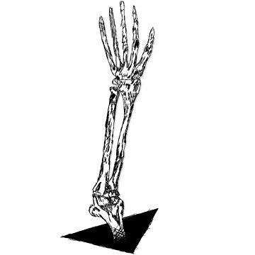 Black White Skeleton Arm by udesignstudio