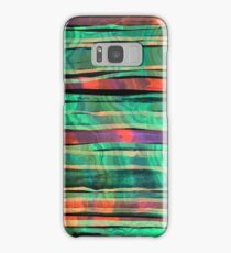 bohemian styled green and orange pattern Samsung Galaxy Case/Skin