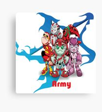 """Robobot """"Off to Mars"""" / Robobot Team Army / Army Canvas Print"""