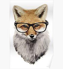 Cute Smart Fox Poster