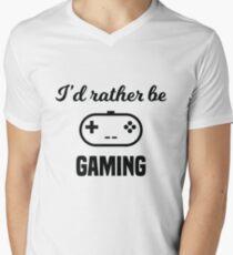 I'd Rather Be Gaming Men's V-Neck T-Shirt