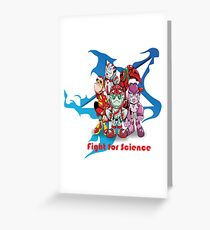"""Robobot """"Off to Mars"""" / Robobot Team / Fight for Science Greeting Card"""
