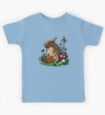 Hedgehog Book Reading Lover Funny Geek Forest Kids Clothes