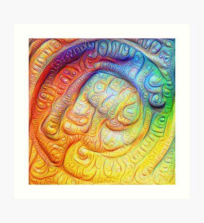 Color Foam #DeepDream V2 Art Print