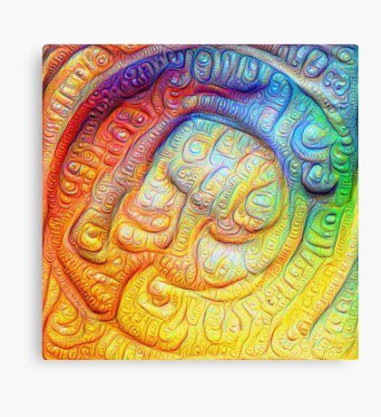 Color Foam #DeepDream V2 Canvas Print