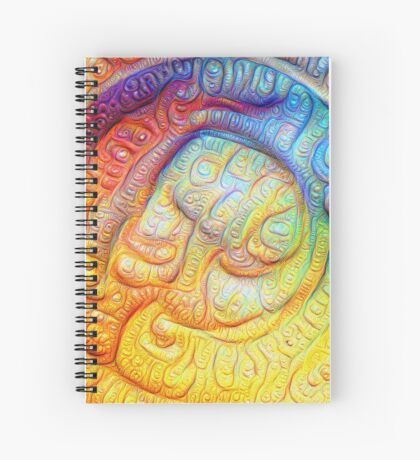 Color Foam #DeepDream V2 Spiral Notebook
