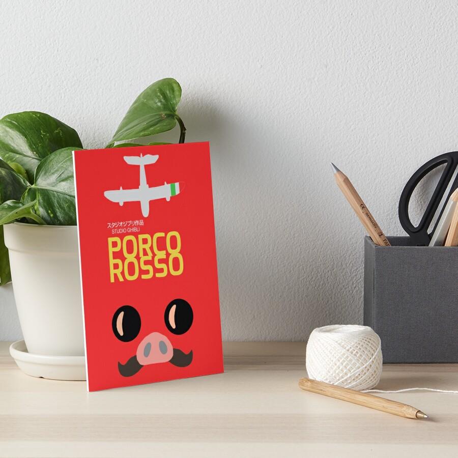 Porco Rosso, Hayao Miyazaki, Movie Poster, Crimson Pig, Studio Ghibli, glicée, fine art, print, minimal, alternative, minimalist, 株式会社スタジオジブリ Art Board Print