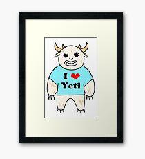 I love Yeti Framed Print